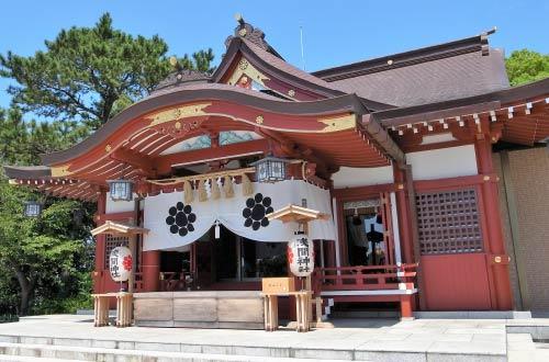 稲毛の浅間神社と松林