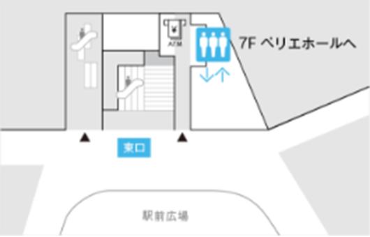 千葉駅1Fからお越しの場合